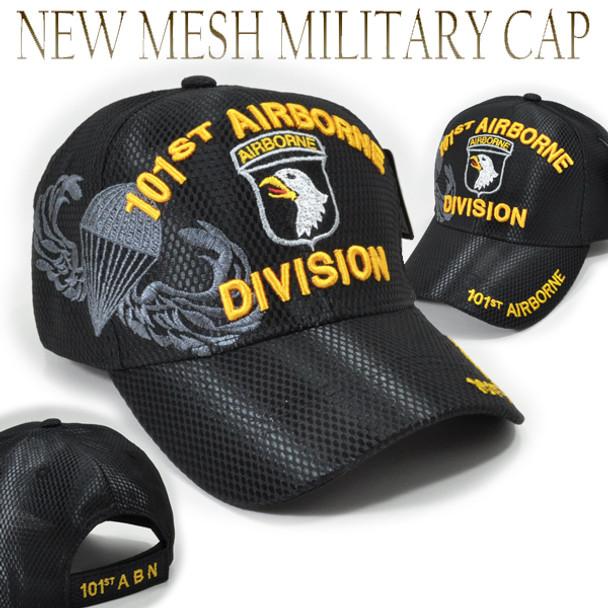 101st Airborne Division Cap Mesh - Black