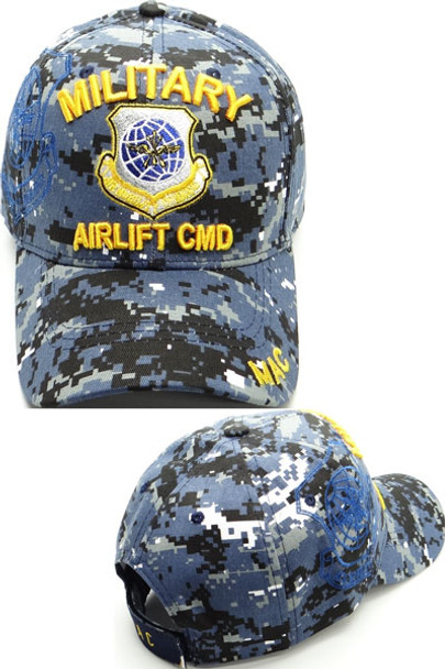 Military Airlift Command Cap Shadow - Blue Digital Camo