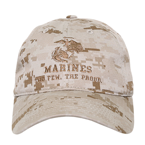 S78 - U.S. Marines Cap - Cotton Relaxed - Desert Digital Camo
