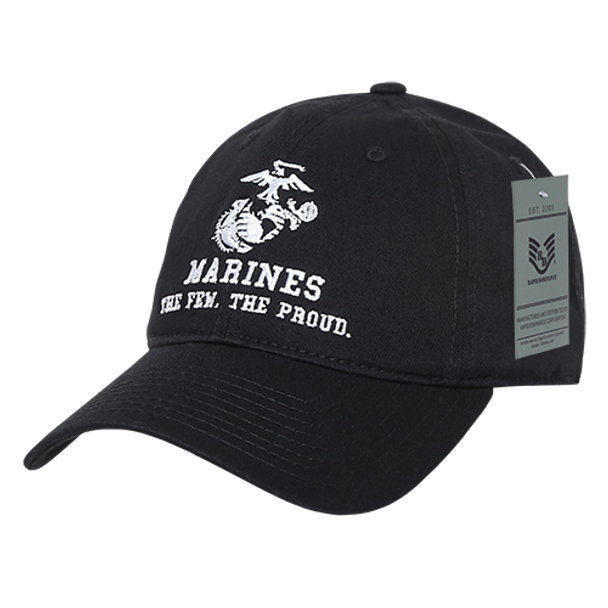 S78 - U.S. Marines Cap - Cotton Relaxed - Black
