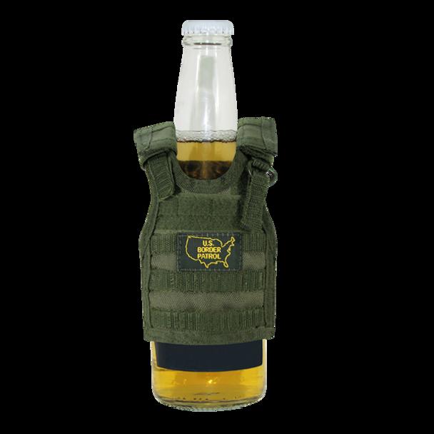T99 - Tactical Mini Vest Beverage Carrier - U.S. Boarder Patrol - Olive