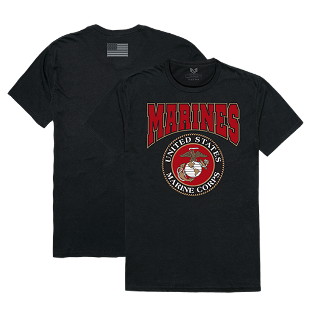 RS2 - Relaxed Graphic T-Shirt - U.S. Marine Corps - Black