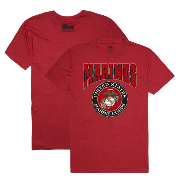 RS2 - Relaxed Graphic T-Shirt - U.S. Marine Corps - Cardinal Red