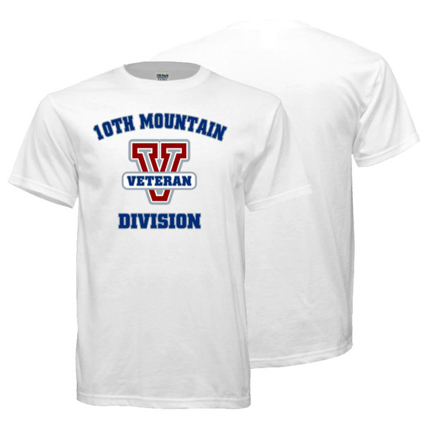 10th Mountain Division Veteran T-Shirt (White)