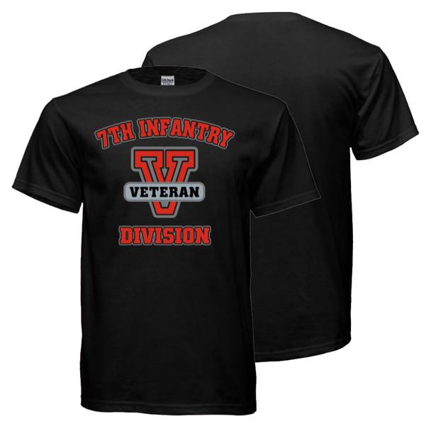 7th Infantry Division Veteran T-Shirt (Black)