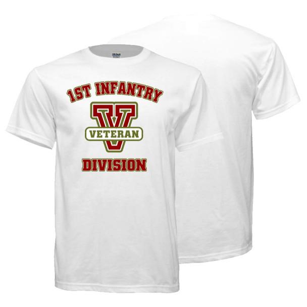1st Infantry Division Veteran T-Shirt (White)