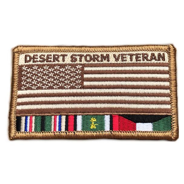 "Desert Storm Veteran Patch 3.5"" x 2"" Sew-On"