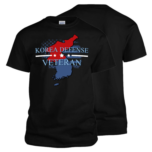 Korea Defense Veteran T-Shirt (Black)