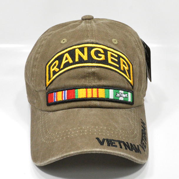 Ranger Vietnam Veteran Cap - Cotton Washed Khaki