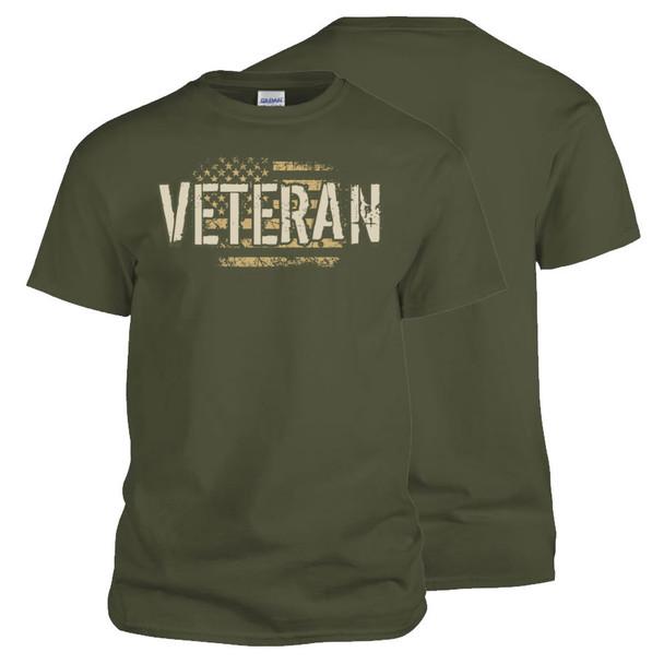 Vintage U.S. Veteran T-Shirt (Olive Drab)