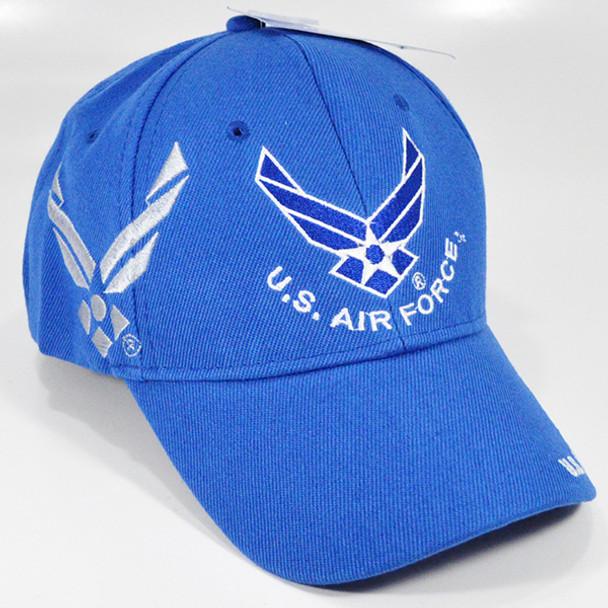 U.S. Air Force Cap - Wings Logo Shadow - Blue