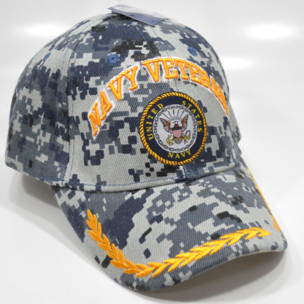 U.S. Navy Veteran Cap -  Blue Digital Camo