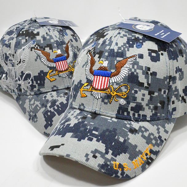 U.S. Navy Cap - Blue Digital Camo