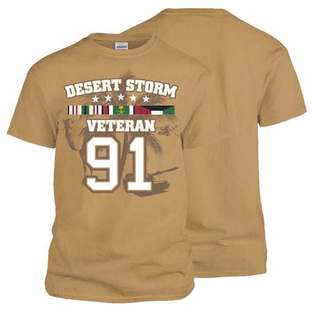 Operation Desert Storm Veteran T-Shirt (Tan)