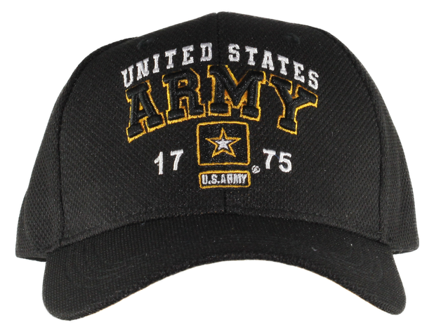 38903 - U.S. Army Cap 1775 Star Logo - Black