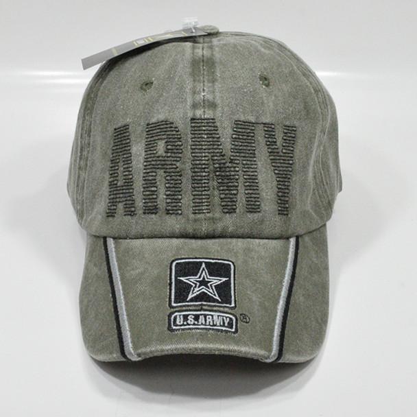 U.S. Army Cap - Cotton - Washed OD Green