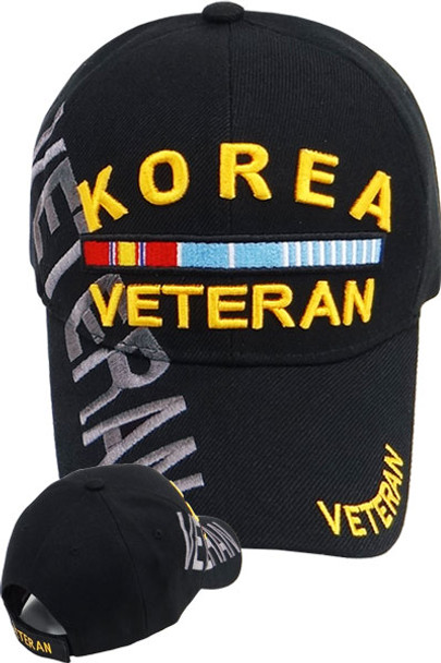 Korea Veteran Cap Shadow - Black