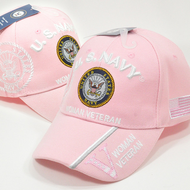 U.S. Navy Cap Woman Veteran - Pink
