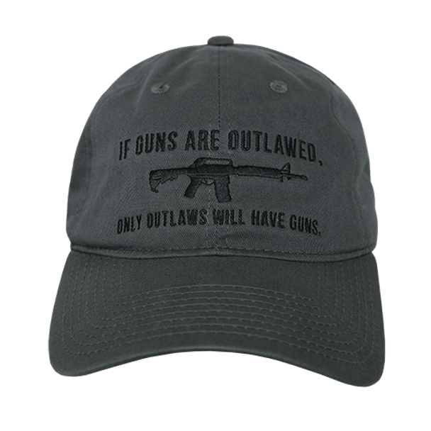 A03 - Outlaw Cap - Relaxed Cotton - Dark Grey