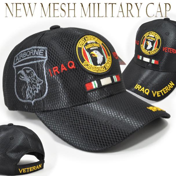 101st Airborne Division Iraq Veteran Cap Shadow - Mesh - Black