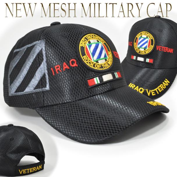 3rd Infantry Division Iraq Veteran Cap Shadow - Mesh - Black