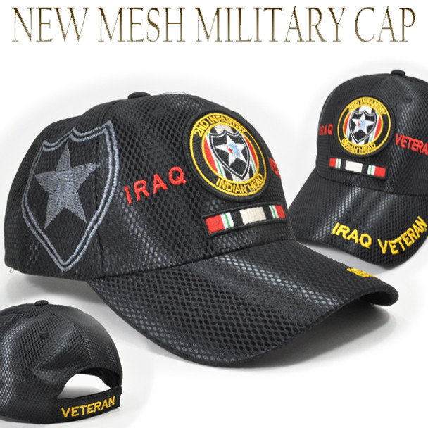 2nd Infantry Division Iraq Veteran Cap Shadow - Mesh - Black