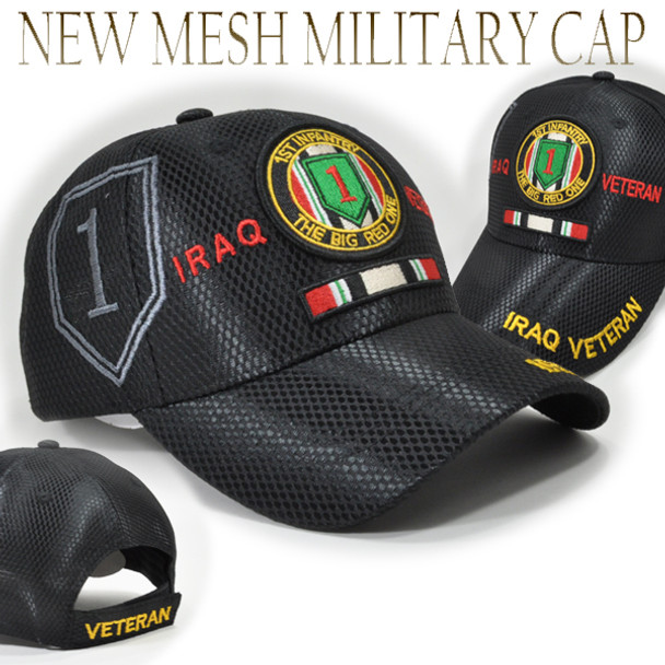 1st Infantry Division Iraq Veteran Cap Shadow - Mesh - Black