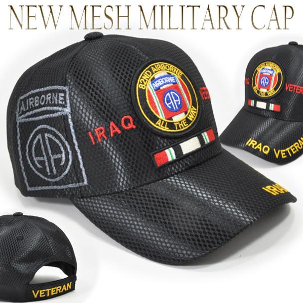 82nd Airborne Division Iraq Veteran Cap Shadow - Mesh - Black