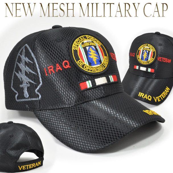 Airborne Special Forces Iraq Veteran Cap Shadow - Mesh - Black