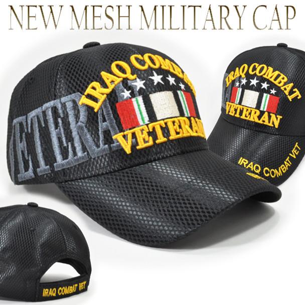 Iraq Combat Veteran Cap Shadow - Mesh - Black