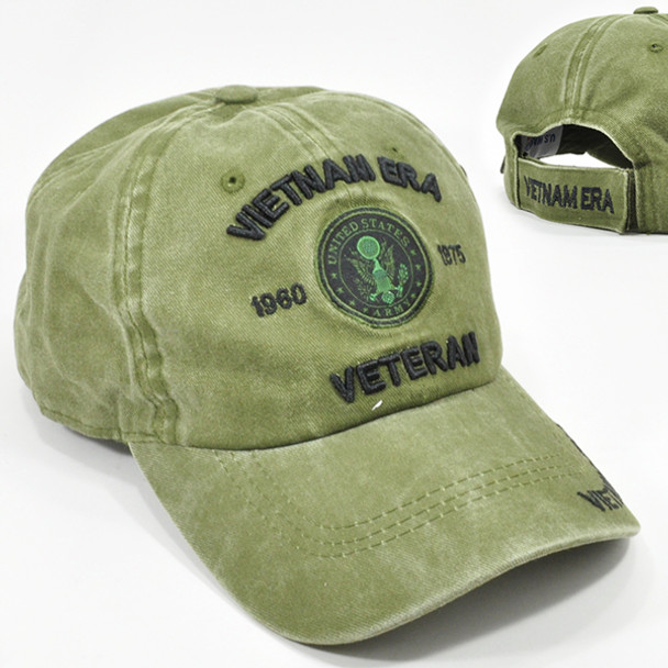Army Vietnam Era Veteran Cap Subdued - Cotton Washed Olive