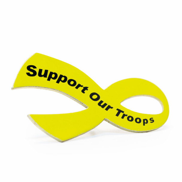 Support Our Troops Ribbon Lapel Pin
