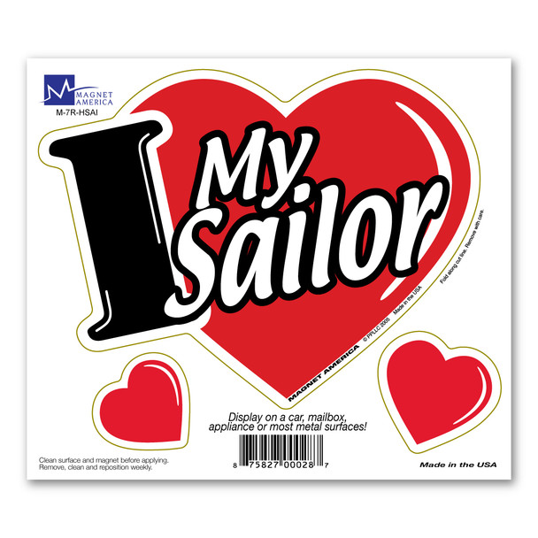 I Love My Sailor 3-in-1 Magnet