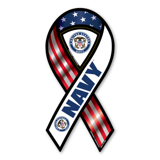 Navy Red, White & Blue 2-in-1 Ribbon Magnet