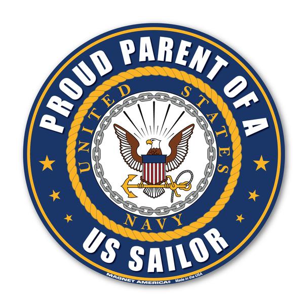 Proud Parent of a US Sailor Circle Magnet