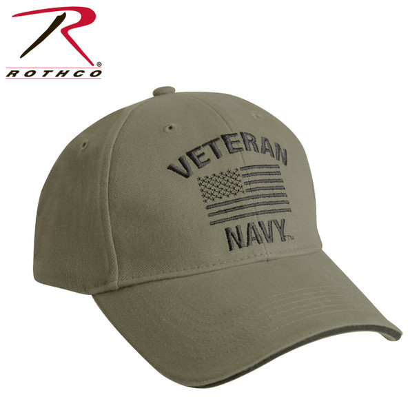 Rothco 3513 U.S. Navy Veteran Cap Low Profile Cotton Olive Drab