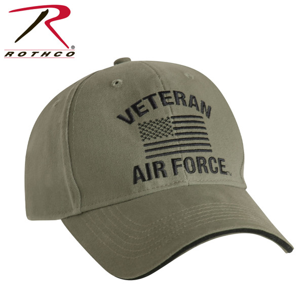 Rothco 3511 U.S. Air Force Veteran Cap Low Profile Cotton Olive Drab