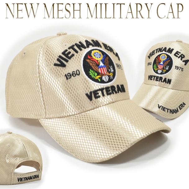 Vietnam Era Veteran Cap - Mesh - Beige