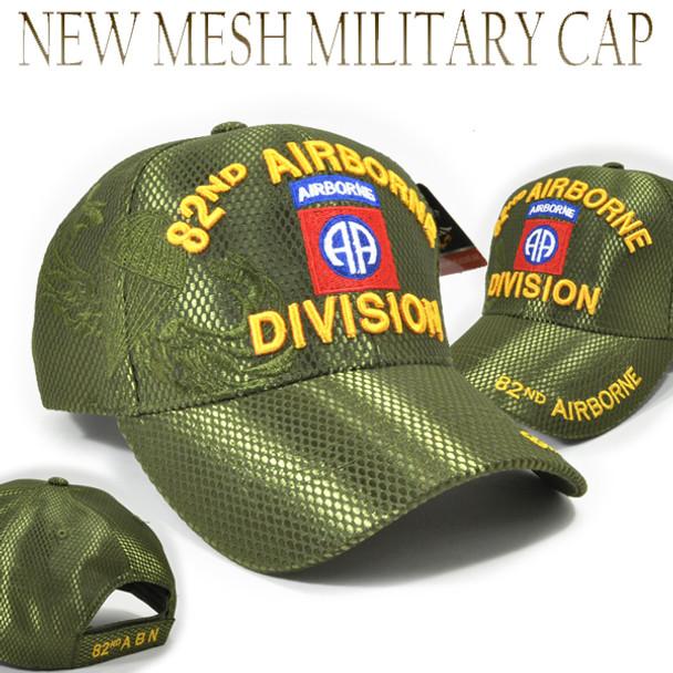 82nd Airborne Division Cap Mesh - Olive