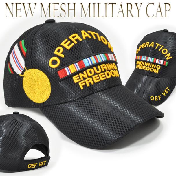 Operation Enduring Freedom Cap - Mesh - Black