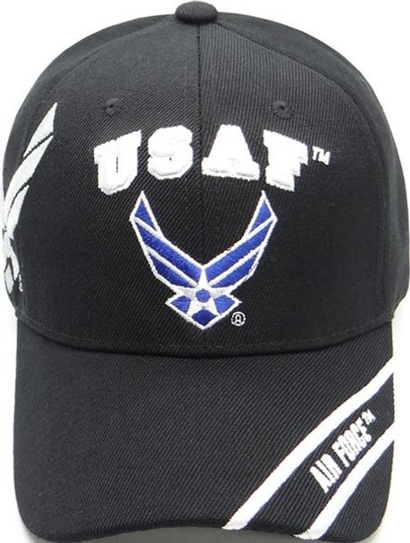 U.S. Air Force Cap Wings Shadow - Black