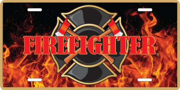 LFIRE1 - Firefighter License Plate - Made in USA