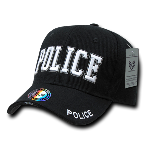 JW - Police Cap Black