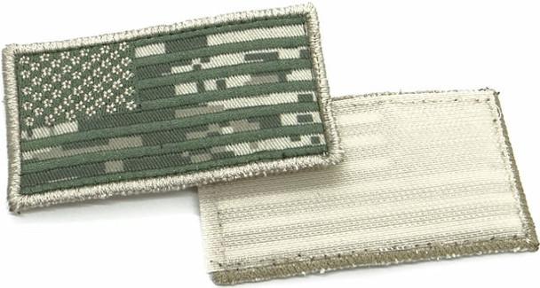 """USA Flag Patch 3.5"""" x 2""""- Velcro - ACU Digital Camo"""