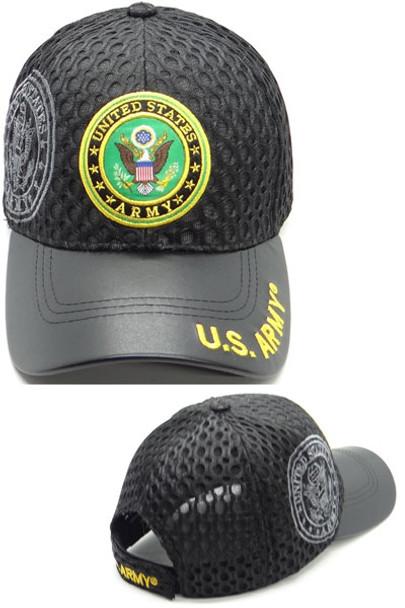 U.S. Army Cap - Waffle Mesh - Black