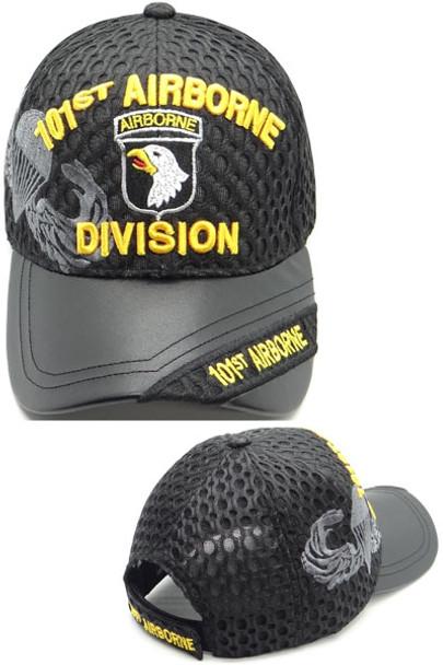 101st Airborne Division Cap - Waffle Mesh - Black