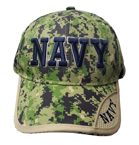 10077 - Military Hat - U.S. Navy - Green Digital Camouflage