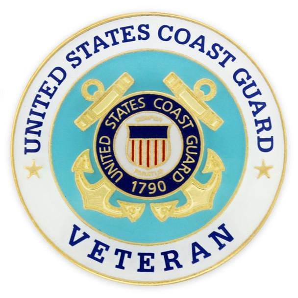 U.S. Coast Guard Veteran Lapel Pin