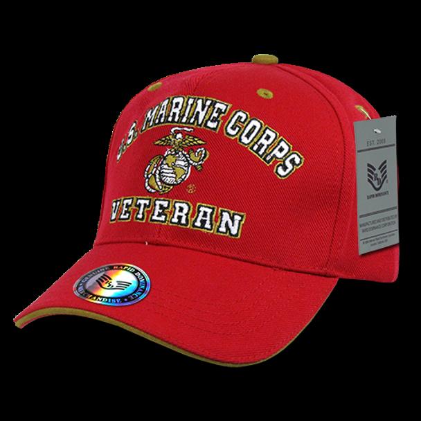 VET - Veteran Cap - U.S. Marines - Red