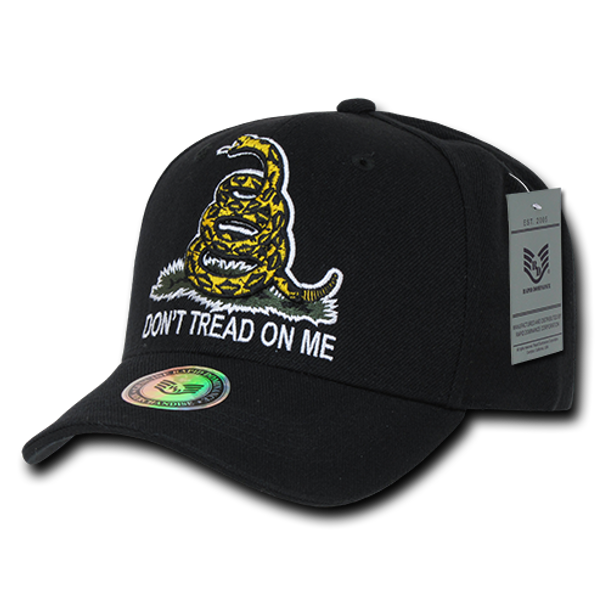 A02 - Don't Tread On Me Gadsden Cap - Black